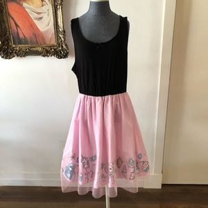 Black and pink tulle crybaby dress